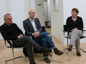 Bei der Diskussion: Die Regisseure Jo Goll und Matthias Deiß sowie die Fachreferentin Monika Michell, Foto © TERRE DES FEMMES