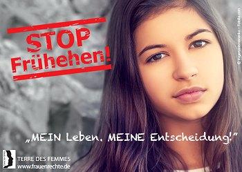 TERRE DES FEMMES: STOP Frühehen! Foto: © evgenyatamanenko - Fotolia.com