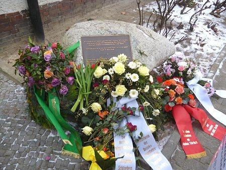 Gedenkstein zur Erinnerung an Hatun Sürücü, Foto © TERRE DES FEMMES