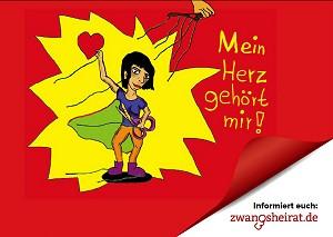 """""""Mein Herz gehört mir"""" - Aktion gegen Zwangsheirat von TERRE DES FEMMES 2012"""