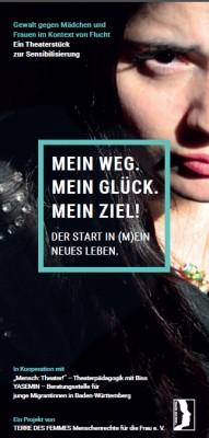 """Theaterflyer """"Mein Weg. Mein Glück. Mein Ziel!"""""""