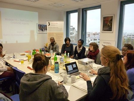 CHANGE Agents during the training in Berlin. Photo: © TERRE DES FEMMES