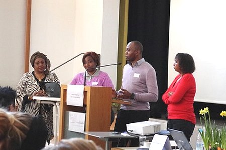 CHANGE Trainers present at the symposium on intercultural health services in Augsburg. Photo: © Katrin Jacob