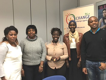CHANGE Agents during their last training with Dr. Idah Nabateregga (center). Photo: © TERRE DES FEMMES