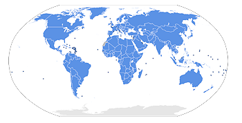 UN Members. Grafik: ©  Lateiner [CC BY-SA 3.0], via Wikimedia Commons