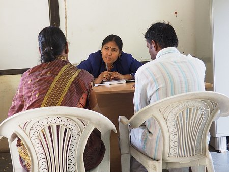 Legal counselling helps women and couples to exit the cycle of violence. © BHUMIKA Women's Collective